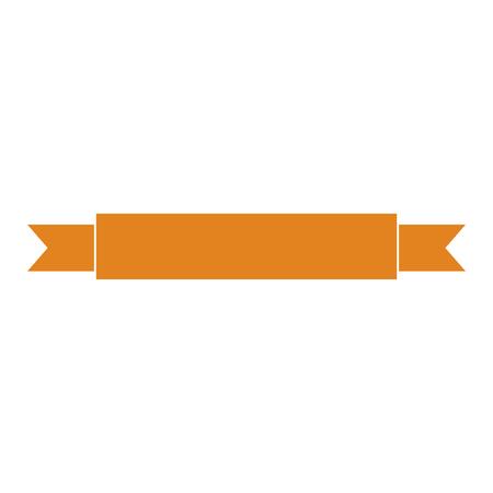 Isolated empty orange ribbon