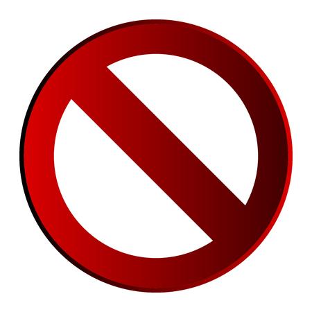 Isolated prohibited signal icon symbol design vector illustration