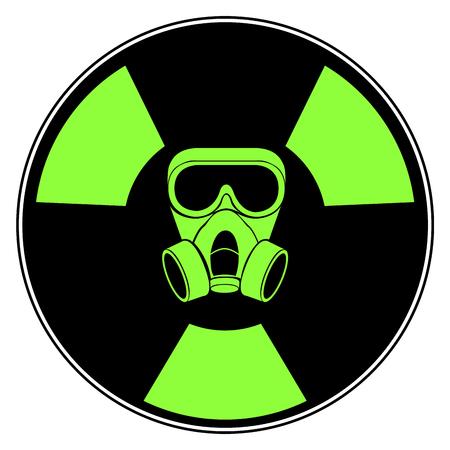 Isolado sinal radioativo ícone símbolo design vector ilustração