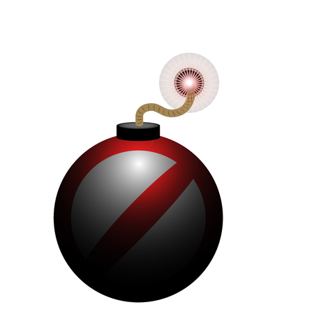 Isolated bomb icon