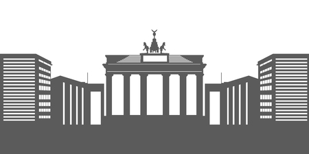 Isolated Berlin cityscape Illustration