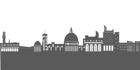 Isolated florence cityscape