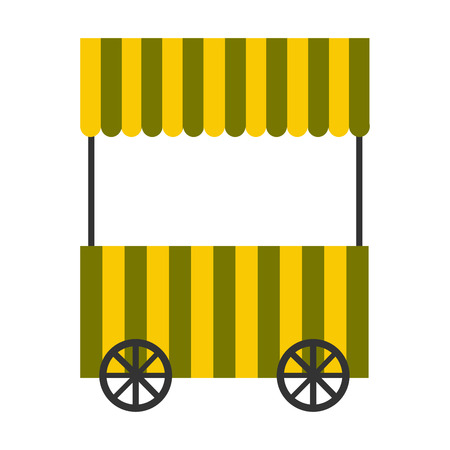 Isolated food cart