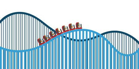 Roller coaster on a white background, Vector illustration Imagens - 93159867