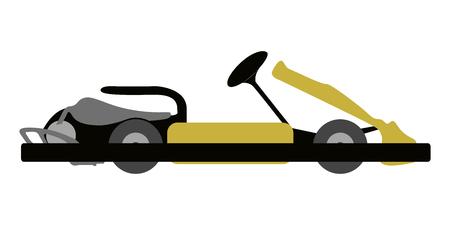 Kart on a white background, Vector illustration