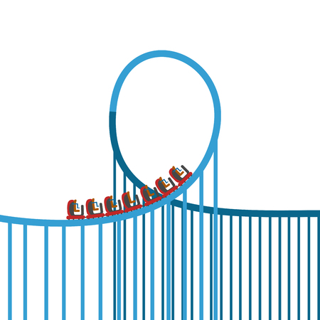 Isolated roller coaster Stock Photo - 93206586