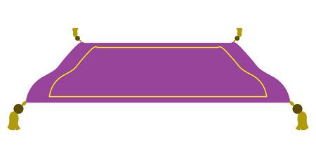 Geïsoleerd purper magisch tapijt