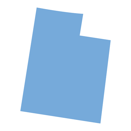 Map of Utah State on a white background, Vector illustration