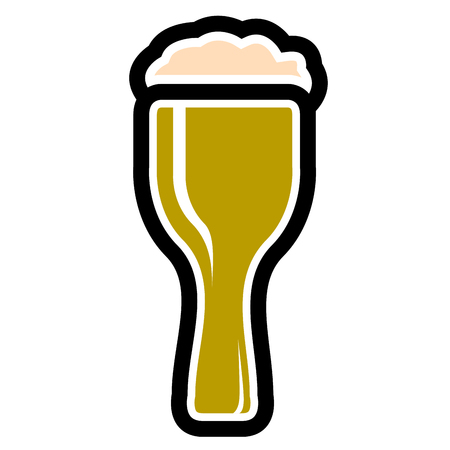 Beer icon isolated on white background, Vector illustration