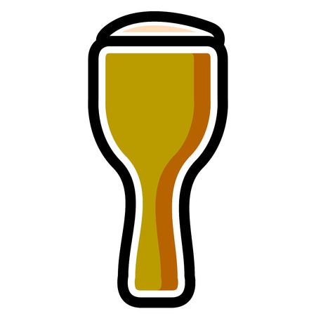Isolated beer icon Illustration