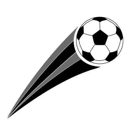 Isolated soccer ball icon in monochrome illustration.