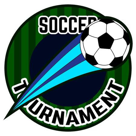 Isolated soccer emblem illustration.