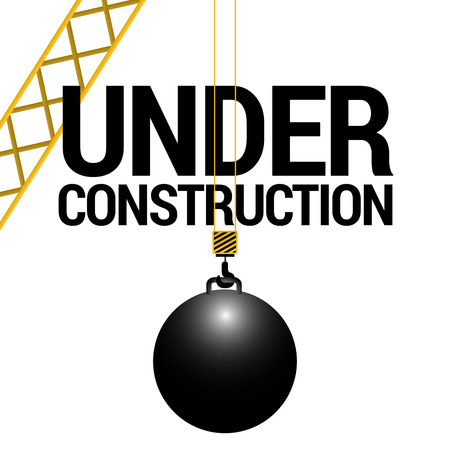 Isolated wrecking ball Illustration