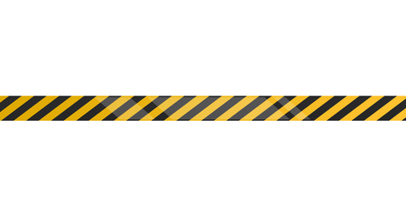 Under construction tape on a white background, Vector illustration Illustration