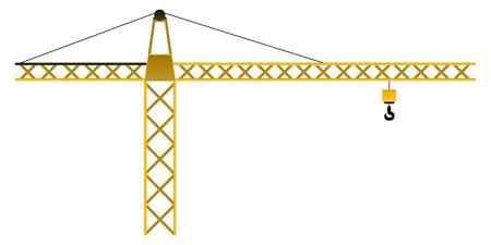 Isolated construction crane Ilustracja