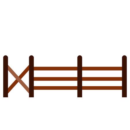 Isolated fence icon Illustration