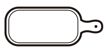 Deska do krojenia ikona czarno-białych ilustracji.