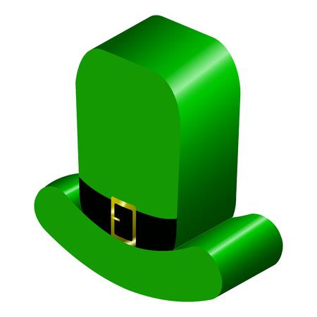 3d model of an Irish hat illustration for St. Patricks Day.