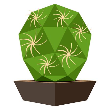 Cute cactus icon Vector illustration.