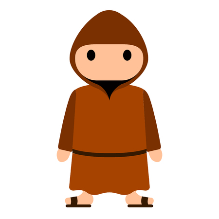 Isolated franciscan monk