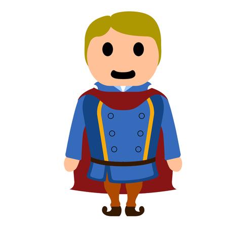 Isolated prince cartoon character Illustration