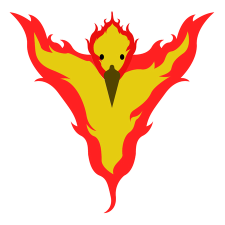 Isolated phoenix icon