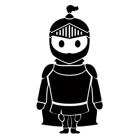 Soldier with armor Vector illustration. Illustration