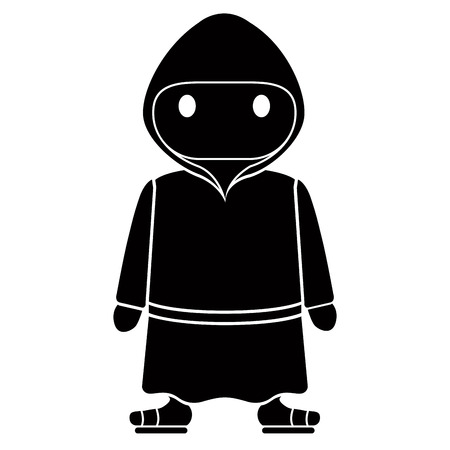 Isolated franciscan monk Vector illustration.