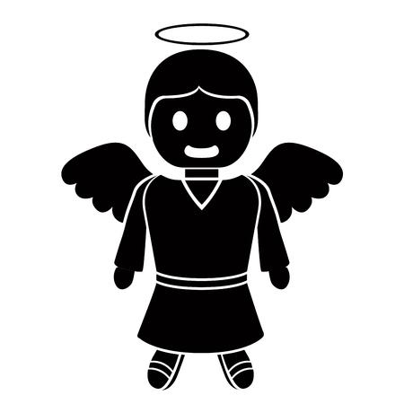 isolated angel cartoon character Vector illustration. Çizim