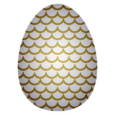 Isolated easter egg Vector illustration. Illustration