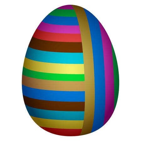 Colorful easter egg illustration.