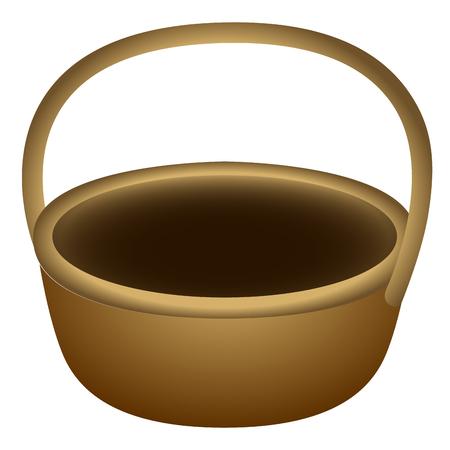 Wooden basket illustration. Illustration