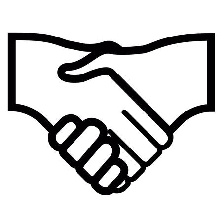 Isolated handshake icon image isolated on white background