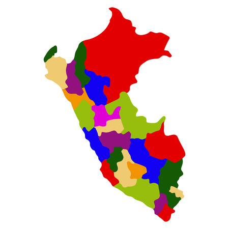 Political map of Peru Illustration