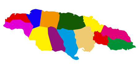 Political map of Jamaica. Vector illustration design