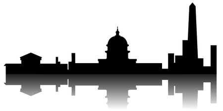 Washington cityscape silhouette image. Vector illustration design