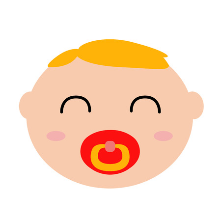 Happy baby avatar with pacifier.