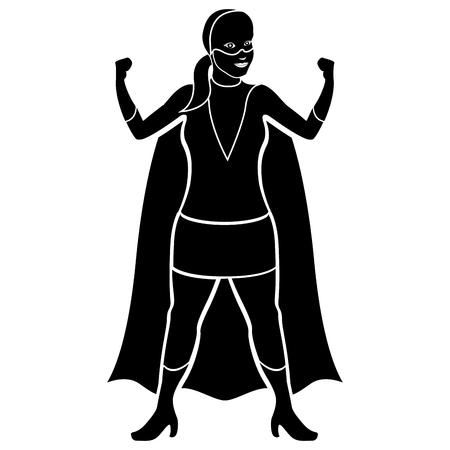 Superwoman cartoon character silhouette