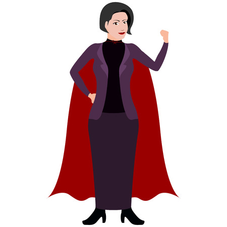 Isolated superwoman cartoon character. Vector illustration design