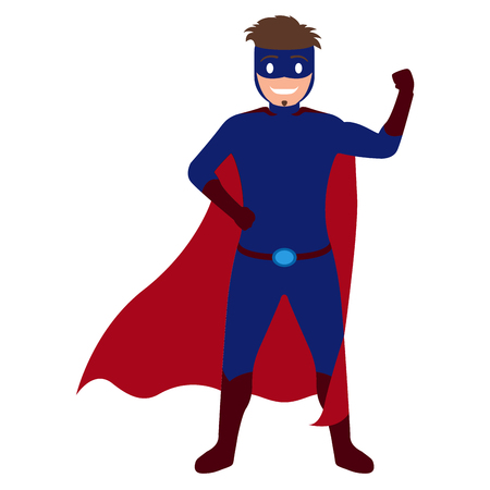 Superdad cartoon character isolated on plain background. Иллюстрация