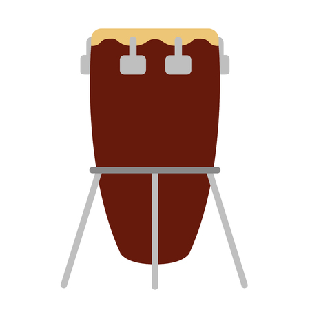 Isolated drum icon. Musical instrument Illustration