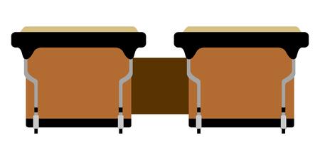 Isolated bongos drum icon. Musical instrument Stock Illustratie