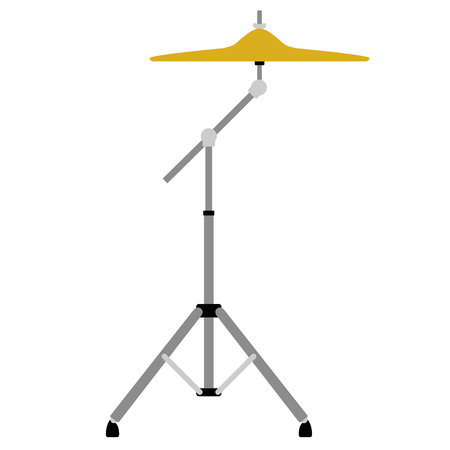 Isolated crash-ride icon. Musical instrument