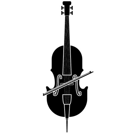 Isolated cello icon. Musical instrument