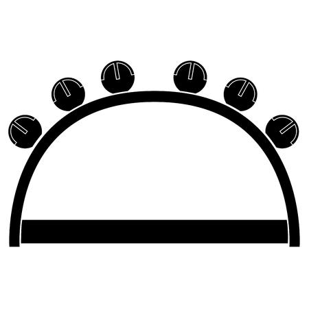 Isolated tambourine icon. Musical instrument