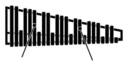 Isolated marimba icon. Musical instrument Ilustrace