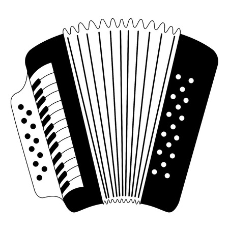 Isolated accordion icon. Musical instrument