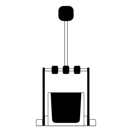 Isolated pedal icon. Musical instrument
