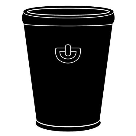 Empty flower pot icon Vector illustration.