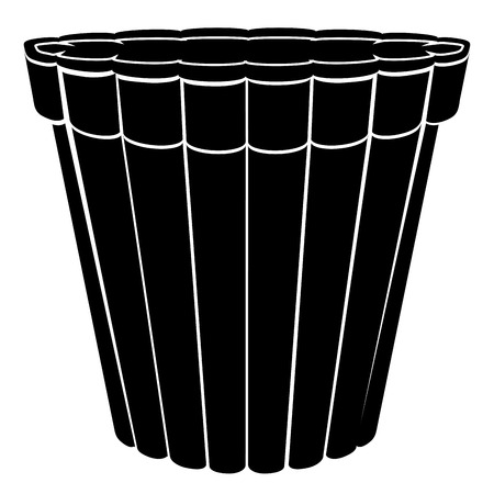 Empty flower pot icon.
